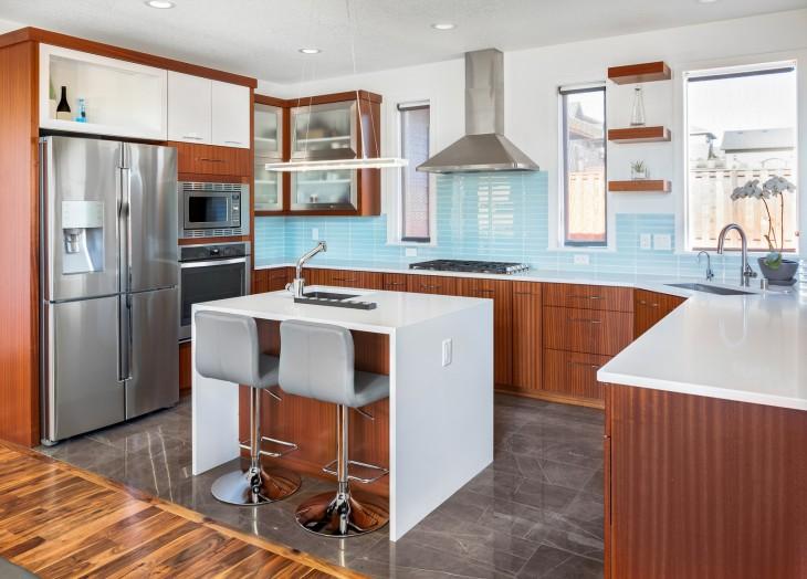 Kamienna posadzka w kuchni