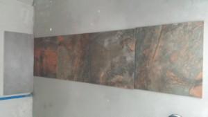 Płytki łazienkowe - imitacja betonu w łazience