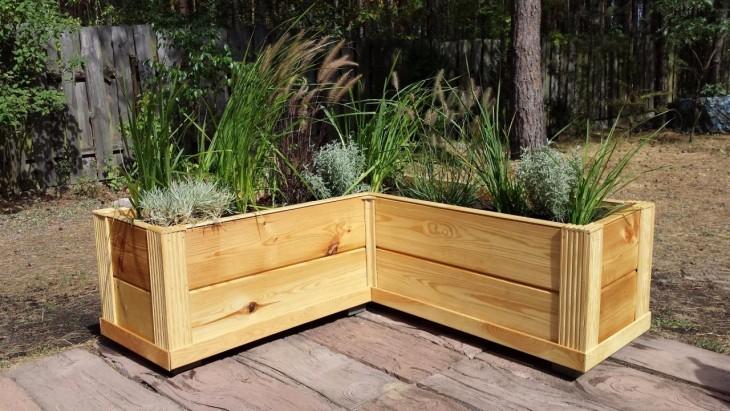 Budowa drewnianej donicy