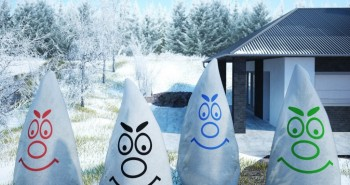 Agrowłóknina zimowa AGROTERM i kaptury ochronne w ogrodzie zimą