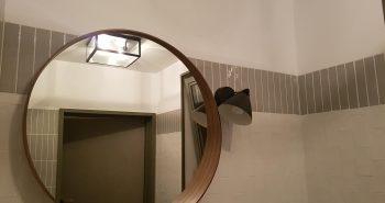 Niestandardowa cegiełka w łazience