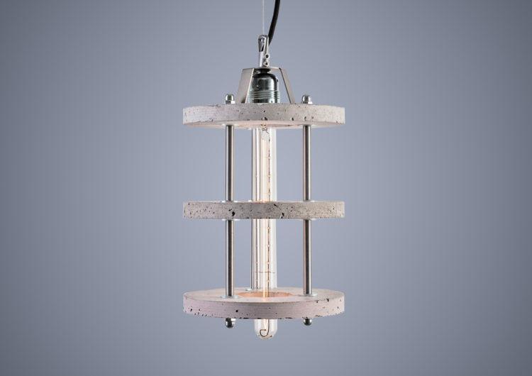 Światło zza betonu – lampy z betonu