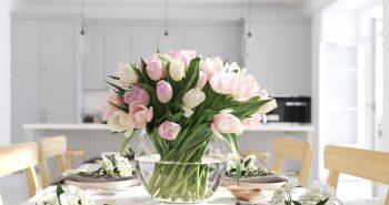 Tulipany w szkle