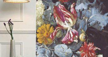 Ściana w gąszczu barokowych bukietów – tapety w kwiaty