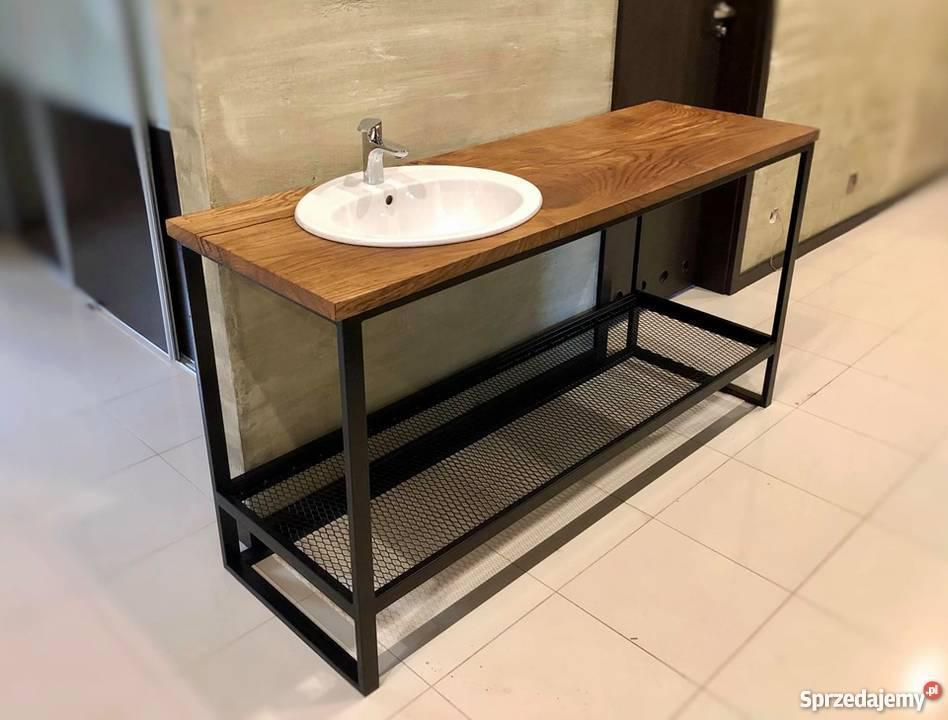 Konsola do łazienki industrialnej
