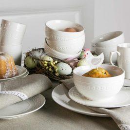 Ceramika stołowa w bieli