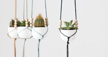Plecione makramy – czyli proste, a niezwykłe kwietniki ze sznurka