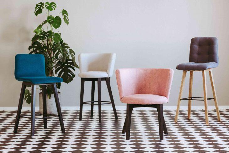 Nowoczesne krzesła tapicerowane