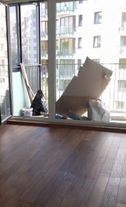 Wykończenie progu pod balkonem