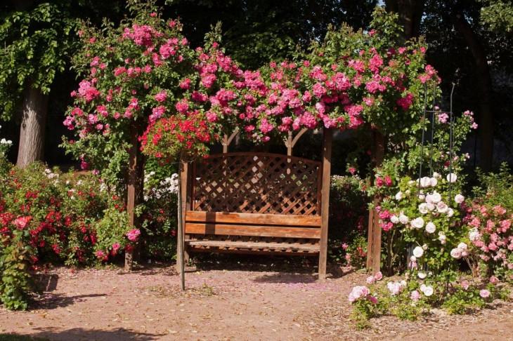 drewniana podpora dla pnączy
