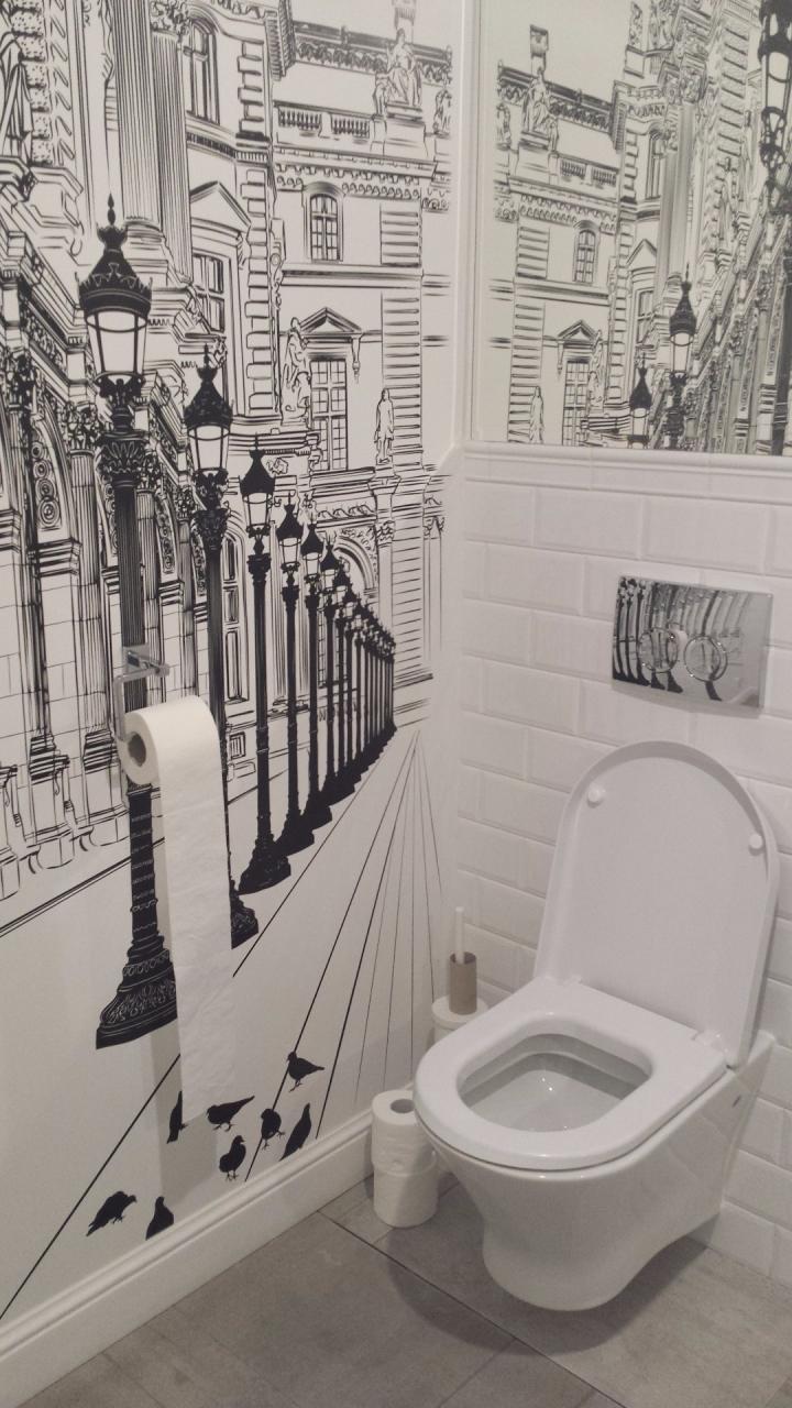 Tapeta Graficzna W Małej łazience M Jak Mrówka